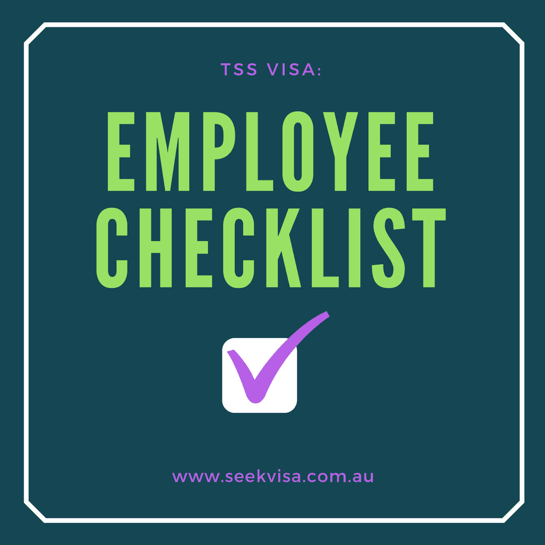 TSS visa Checklist for Employee - Australian Migration
