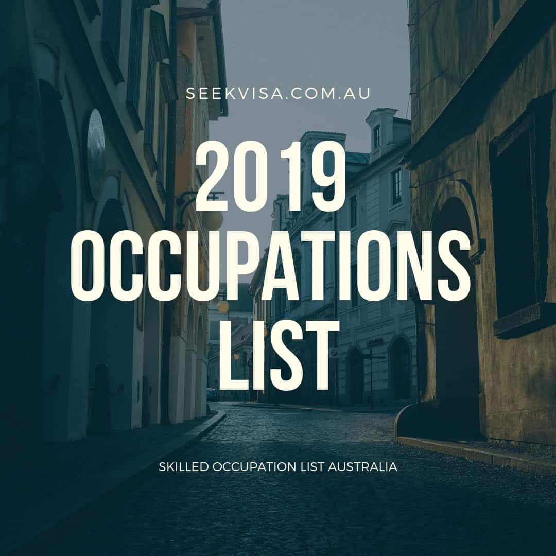Skilled Occupation List Australia 2019 - Australian
